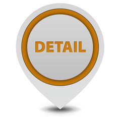 Detail pointer icon on white background