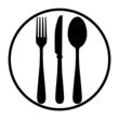 Fork, knife and plate - 76422934
