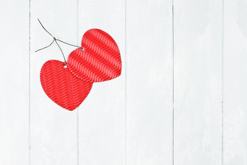 Two Valentine's Day Paper Hearts