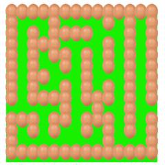 eggs setting Maze or labyrinth green base