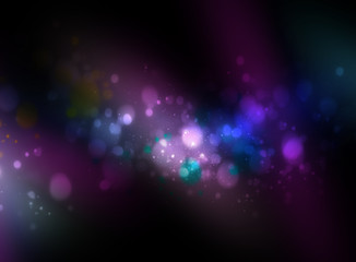 Multicolor abstract background with bokeh lights