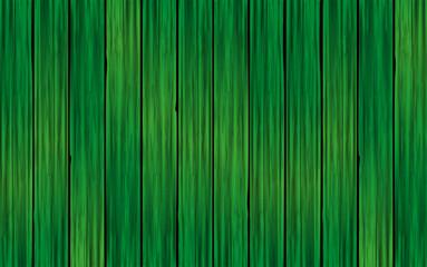 Fondo de madera realista verde. Textura de madera