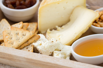 cheese with honey and toasts