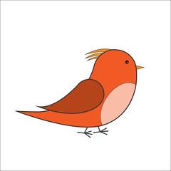 orange and red bird vector