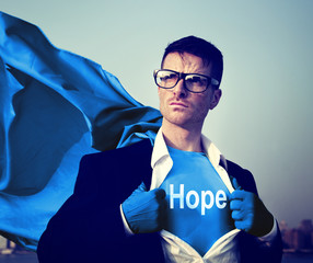 Business Hope Praying Aspiration Victory Concept