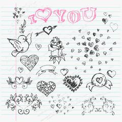 Valentine's Day Love & Hearts Sketch Notebook  design