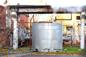 steam from the boiler tank