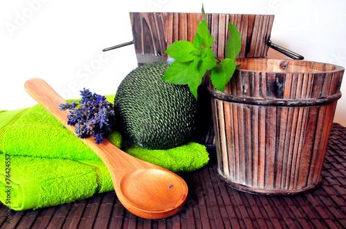 canvas print picture Wellness Sauna Entspannung