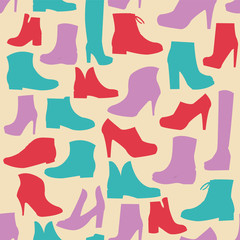 Silhouette background  of men's  and of women's  fashion  Footwe