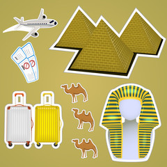 sticker Egyptian pyramids