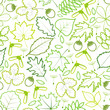 seamless pattern from spring leaves.