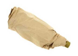 Bottle of scotch in a paper bag