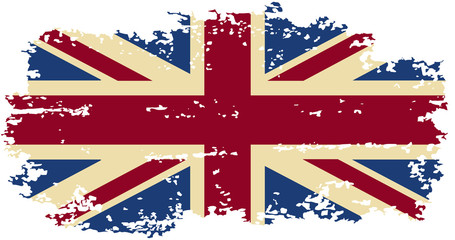 British grunge flag. Vector illustration.