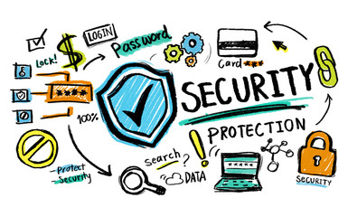 Security Protection Lock Network Firewall Concept