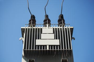 Electric transformer against Blue Sky