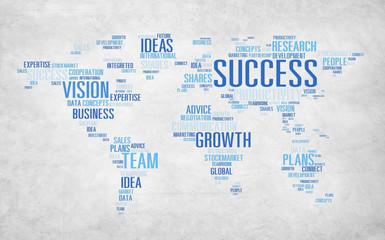 Global Business Communication Plan Strategy Success Concept