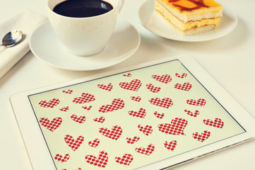 hearts in a tablet