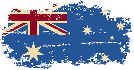 Australian grunge flag. Vector illustration.
