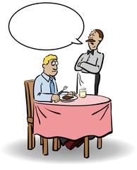 Comic: Kellner kontert Gast-Reklamation mit patziger Antwort