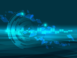 abstract  technology line vector background