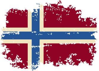 Norwegian grunge flag. Vector illustration.