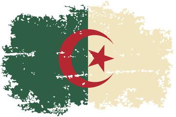 Algerian grunge flag. Vector illustration.