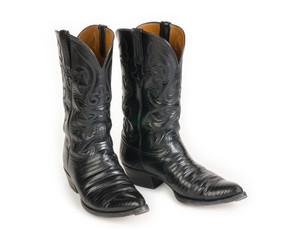 Men's Black Cowboy Boots.