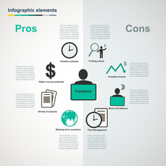 Vector freelance infographic elements