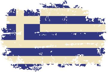 Greek grunge flag. Vector illustration.