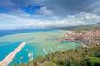 Leinwanddruck Bild - Aerial view of Castellamare del Golfo in Sicily