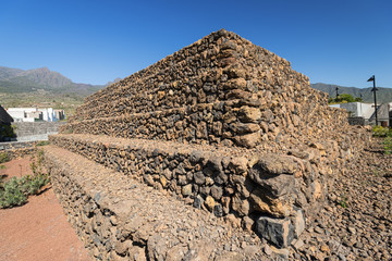 Guanches step pyramids de Guimar Tenerife Canary Islands Spain