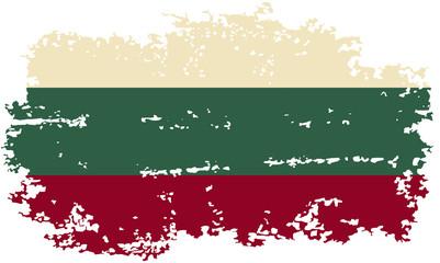 Bulgarian grunge flag. Vector illustration.
