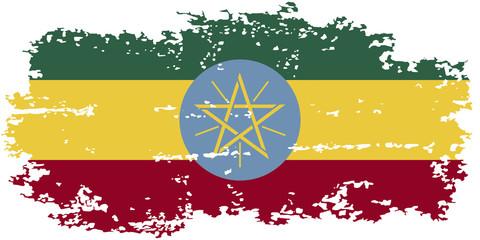 Ethiopian grunge flag. Vector illustration.