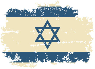 Israeli grunge flag. Vector illustration.