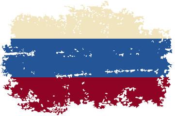 Russian grunge flag. Vector illustration.