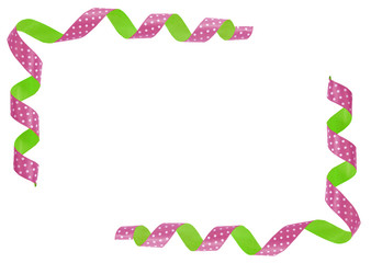 decorative melticolored ribbon design with a pattern. Isolated