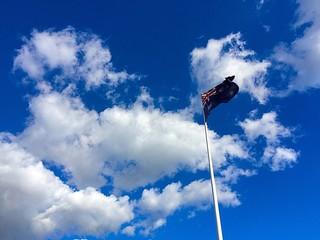 Australia flag in the sky