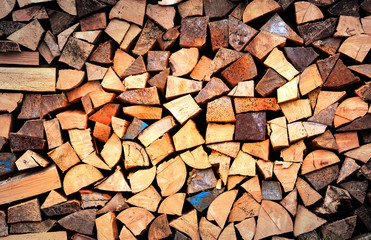 Firewood wall