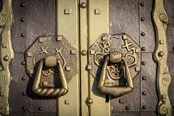 old lock on the vintage door