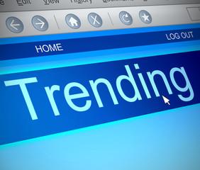 Trending concept.