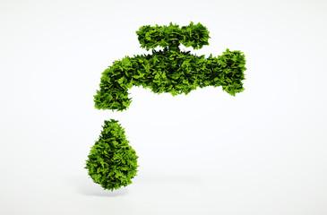Eco organic water symbol