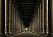 Leinwandbild Motiv light at end of row of pillars