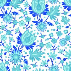 seamless blue china pattern
