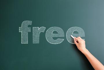 free written on blackboard