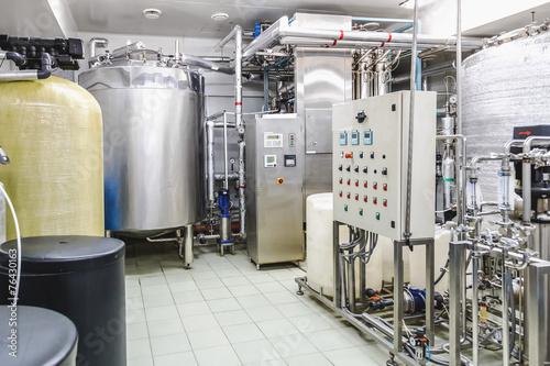 Staande foto Industrial geb. Water conditioning or destilation room