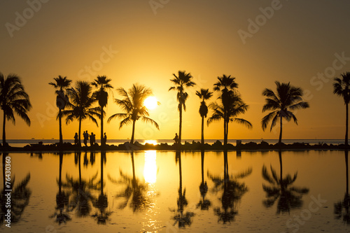 Tuinposter Water Sunrise in Miami