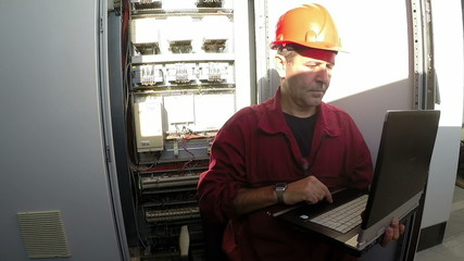 Engineer Using A Laptop Computer