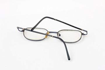 old bent glasses
