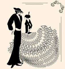 image of two  flamenco dancers