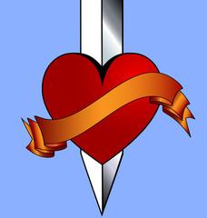 heart and khife